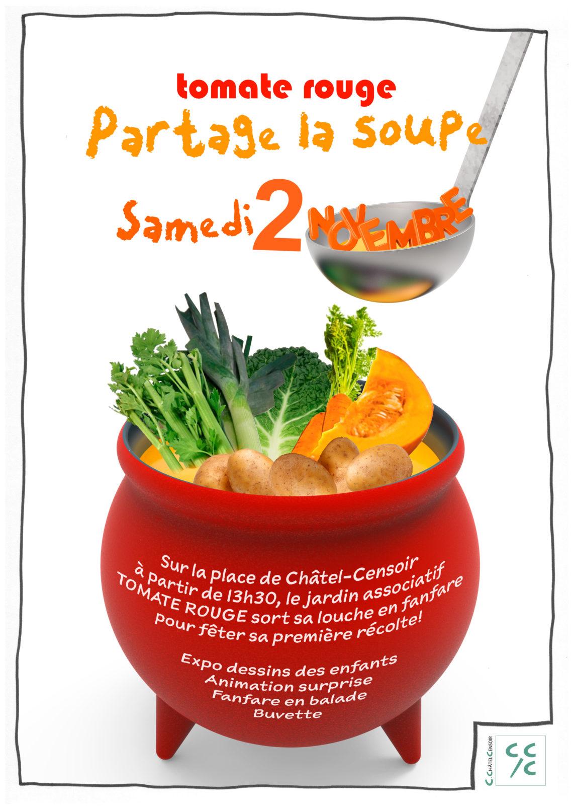 Tomate Rouge partage la soupe !